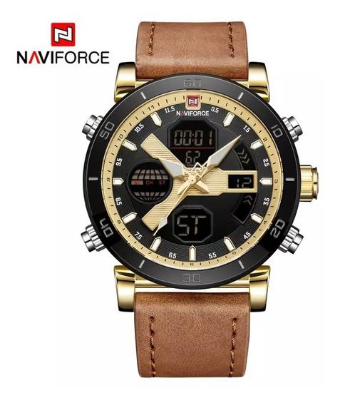 Relógio De Luxo Original Cronógrafo Aço Inoxidável Quartzo