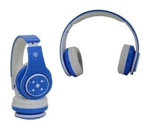 Fone De Ouvido Bluetooth Sd Mp3 Fm Knup Branco E Azul