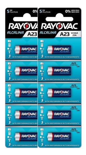 Pilha Eletrônica Rayovac V23ga - 10 Unidades