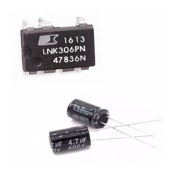 30 Peças Ci Lnk306pn + 30 Capacitor 4,7uf 400v Eletrolítico