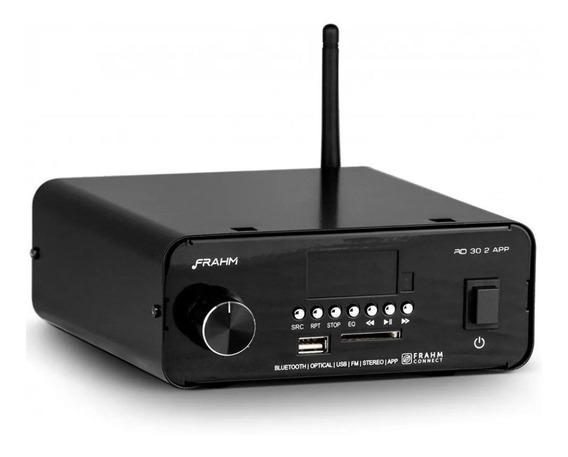 Amplificador Receiver Frahm 2 Canais 30w App Optico Rd 30.2