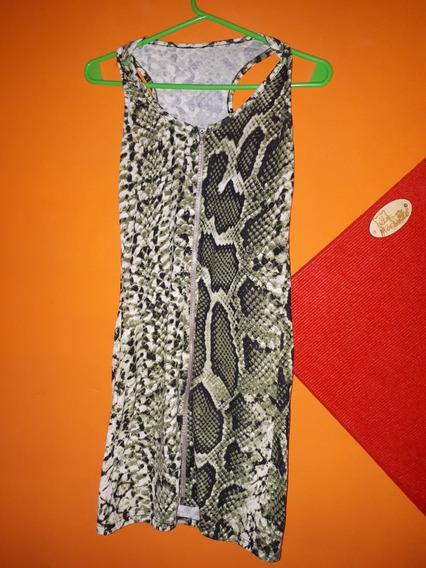 Vestido De Animal Print Verde