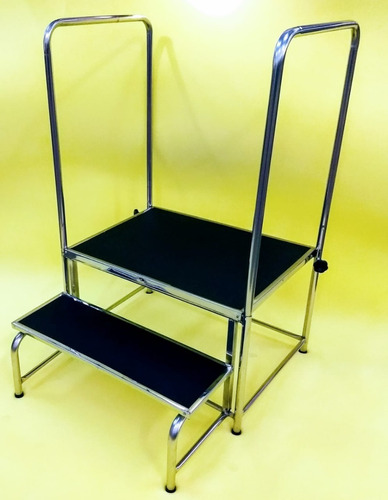 Escada Doppler Com 2 Degraus Plataforma 65x50 Cm Inox