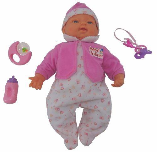 Boneca Bebê Fofucha C/ Expressão Real - Fala Chora E Dorme