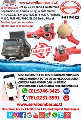 Reparación De Bombas De Agua Automotrices Hino Guatemala