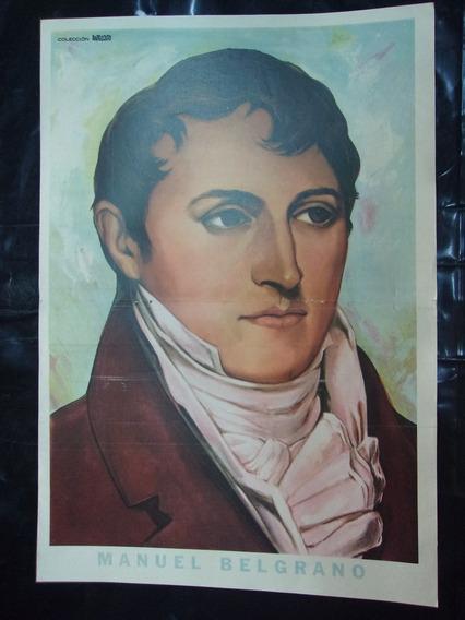 Láminas Manuel Belgrano, Colección Anteojito Y Billiken X 4