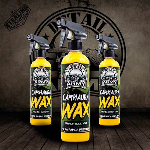 Imagen 1 de 10 de Detail Army® - 001   Carnauba Wax   Cera Protectora   Rapida   550cc   Detailing