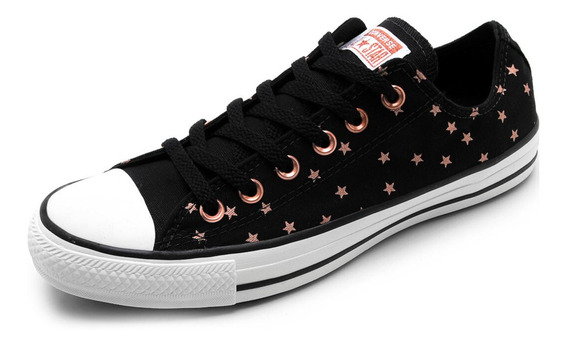 Tênis Converse All Star Estrela Ct As Core Ox - Preto