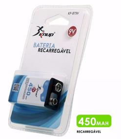 Bateria Recarregável 9v 450mah Knup Blister Original