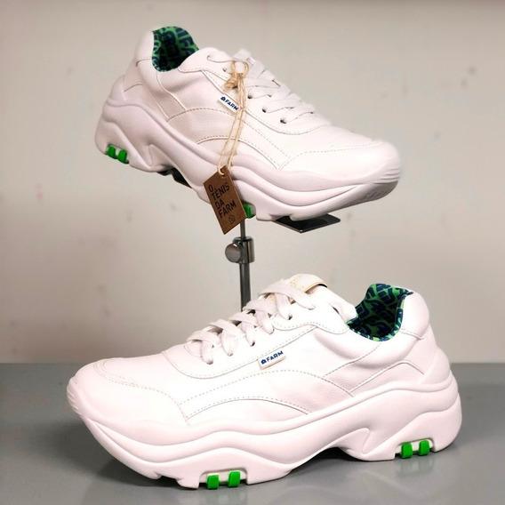 Tênis Farm Branco Branco Chunky Sneaker Lançamento - Berti M