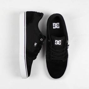 Tênis Dc Shoes Anvil La Preto E Branco