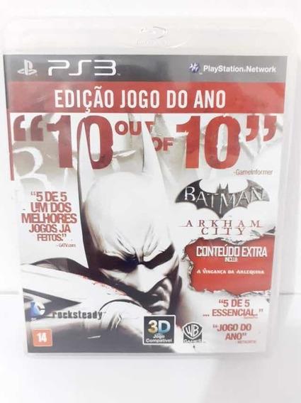 Batman Arkham City 10 Out 10 Edição Jogo Do Ano Ps3