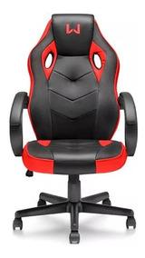 Cadeira Giratória Gamer Vermelho Warrior Ga162 Multilaser