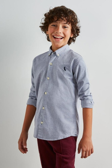 Camisa Mini Oxford Ml Reserva Mini