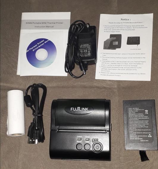 Impressora Termica Portatil Bluetooth Fujilink