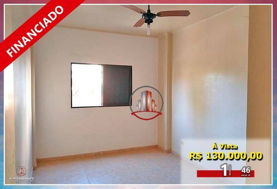 Apartamento Com 1 Dormitório À Venda, 46 M² Por R$ 130.000,00 - Caiçara - Praia Grande/sp - Ap1772