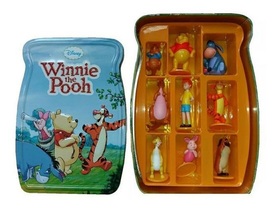 Caja Estuche Metálico De Winnie The Pooh, Disney Colección!