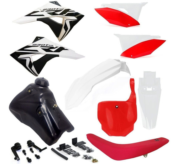 Kit Carenagem Biker El1te Completo Number Crf Dt Torneira 7l