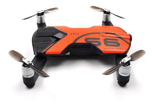 Drone Wingsland S6 con cámara 4K  fresh orange