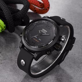Relógio Masculino Militar Led Oshen