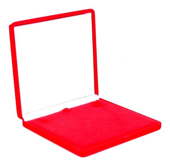 Caixa Expositora De Colar Vermelha.