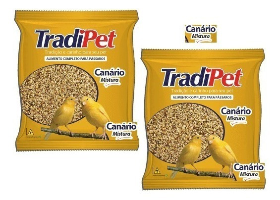 Kit Tradipet Sementes 1 Canario 10kg + 1 Calopsita 10kg