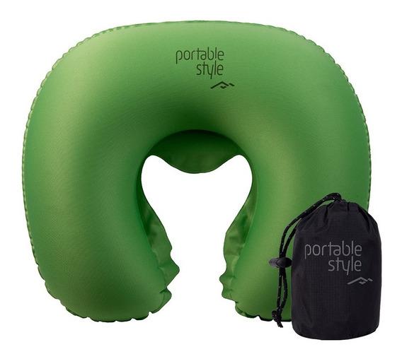 Almohadilla Inflable De Viaje Almohada Cuello Portable Style