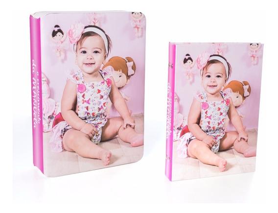 Kit Album E Estojo Fotografico 15x21 Personalizado Foto Tema