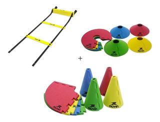 Kit Agilidade, Escada +cones Eva+cones De Marcação Eva 12 Un