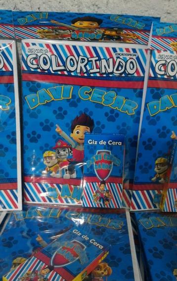 15 Kits Colorir 15x21cm + Giz De Cera Personalizado