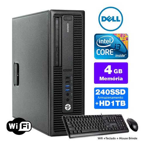 Imagem 1 de 5 de Computador Usado Hp Compaq Sff I3 4g 4gb Ssd240+1tb Brinde