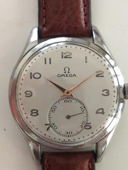 Enorme Relógio Omega Em Aço. Mais De 38 Mm