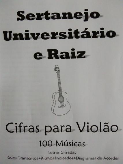 Cifras Violão Univerrsitario E Raiz 100 Músicas, 190 Pág