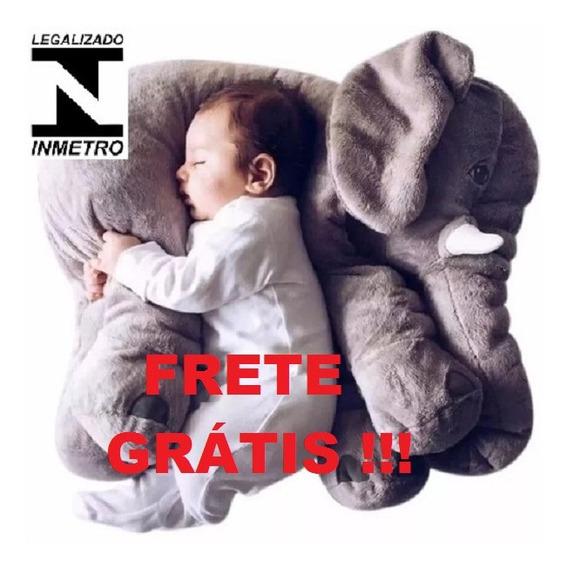 Almofada Travesseiro Elefante Pelúcia Bebê Dormir 62cm