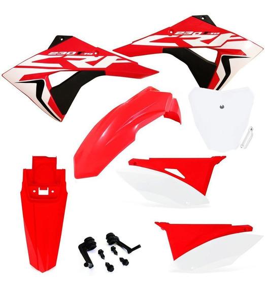 Kit Plástico Biker Next Crf230 2008 A 2019 Number E Adesivo