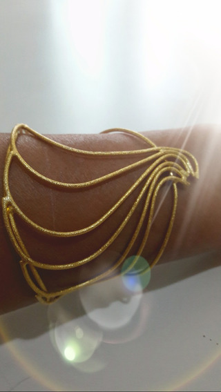 Bracelete Folheado Feminino Fosco