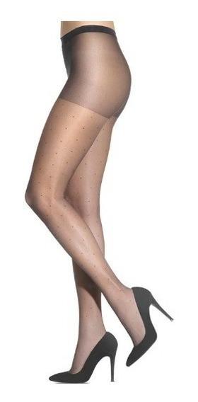 Meia Calça Poá Clássica Fina Fio 15 Feminina Lupo 5687-001f