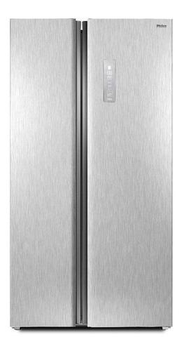 Geladeira/refrigerador 489 Litros 2 Portas Inox Side By Side - Philco - 110v - Prf504i