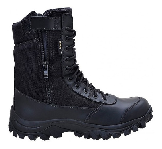 Bota Coturno Airstep C/ Ziper 8628-1 Easy Boot Light - Preto