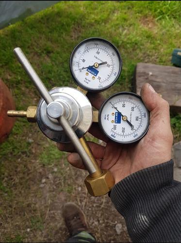 Imagen 1 de 3 de Manometro Completo 4000 Pesos Autogena Oxígeno Mig