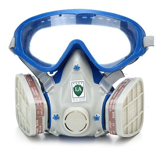 Haze Máscara De Gas Y Gafas Respirador De Pintura Química A