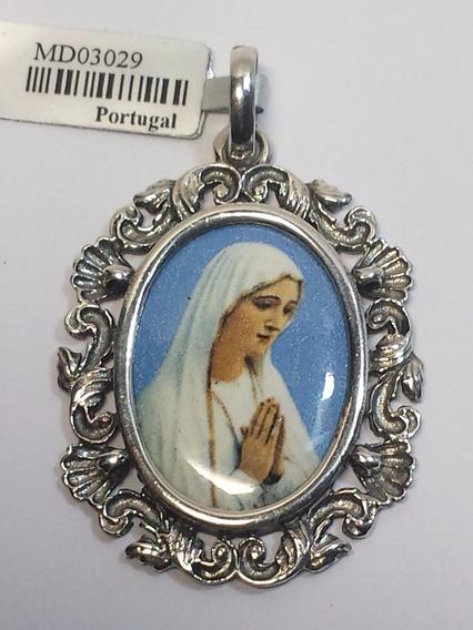 Medalha Nossa Senhora De Fátima - Esmalte