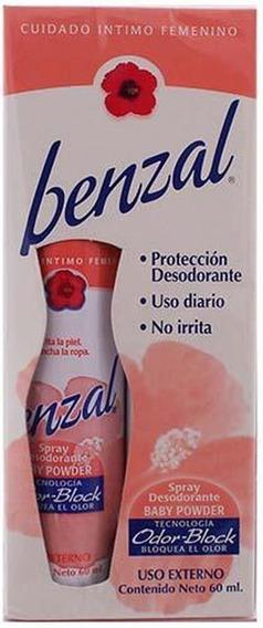 Benzal Desodorante Íntimo Baby Powder 60ml