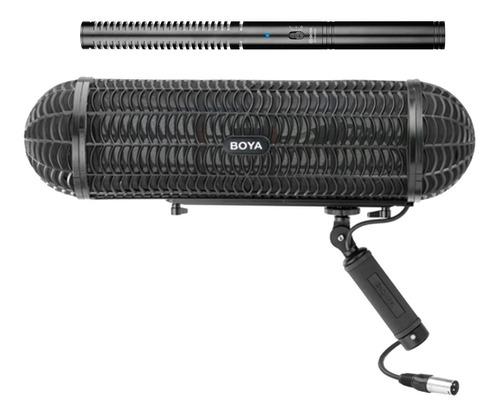 Imagen 1 de 7 de Microfono Shotgun Bm6060 Filtro Deadcat Zeppelin Ws1000 Boya