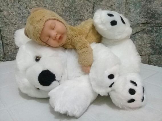 Lote C/ 2 Pelúcias Usadas - Urso E Bebê