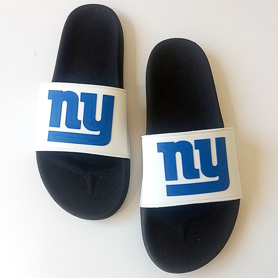 Chinelo Slide New York Giants Nfl Futebol Americano Branco