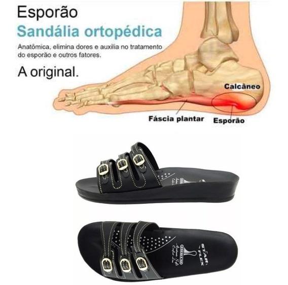 Sandália Ortopédica Star Flex Anatômica Confort 3 Tiras