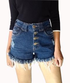 Short Feminino Jeans Cintura Alta