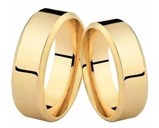 Alianças Ouro 18k 4mm 6 Gramas Casamento Noivado