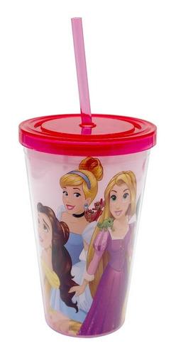 Copo Com Canudo Princesas Disney 500ml